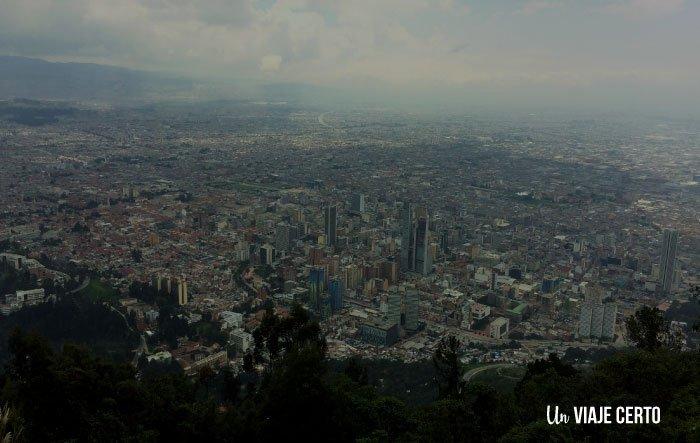 Vista de Bogotá desde el cerro Monserrate