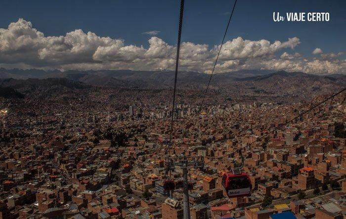 Mi teleférico subiendo a El Alto