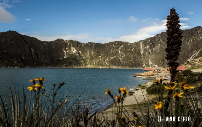 fotografía de la laguna de Quilotoa