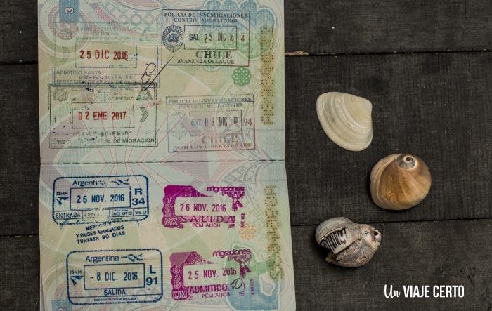Sellos de pasaporte de la comunidad andina y asociados