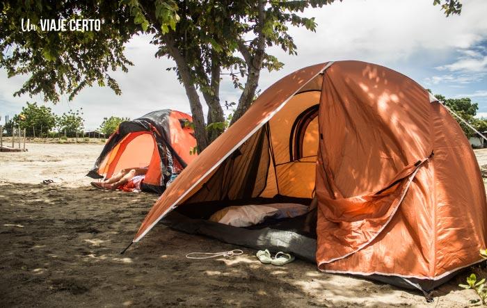 Acampar en el sector el cuzco del desierto de la Tatacoa