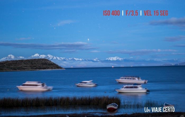 Fotografia nocturna en la Isla del Sol Bolivia