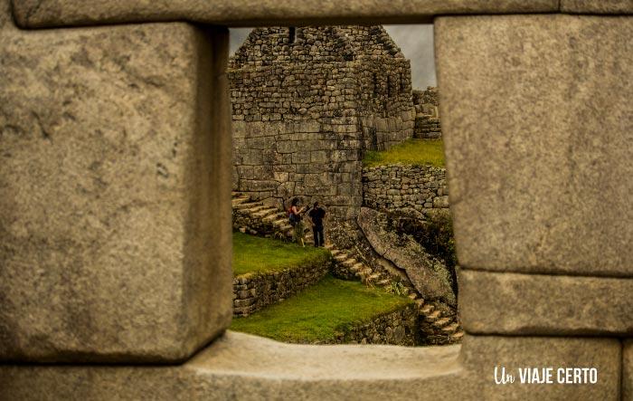 Perspectiva de la ciudadela de Macchu Picchu