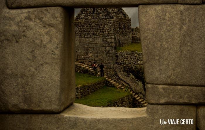 Perspectiva templo de las tres ventanas Machu Picchu