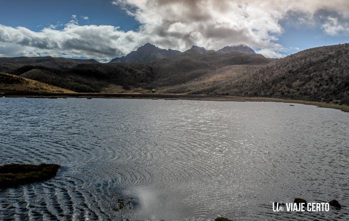 Atardecer en la Laguna Limpiopungo