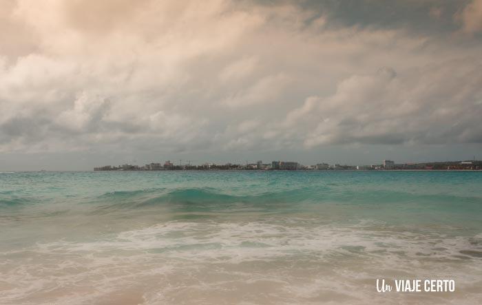 Vista de San Andrés desde Johnny Cay