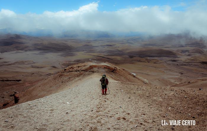 Vista desde el volcán Cotopaxi