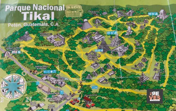 Mapa del Parque Nacional Tikal