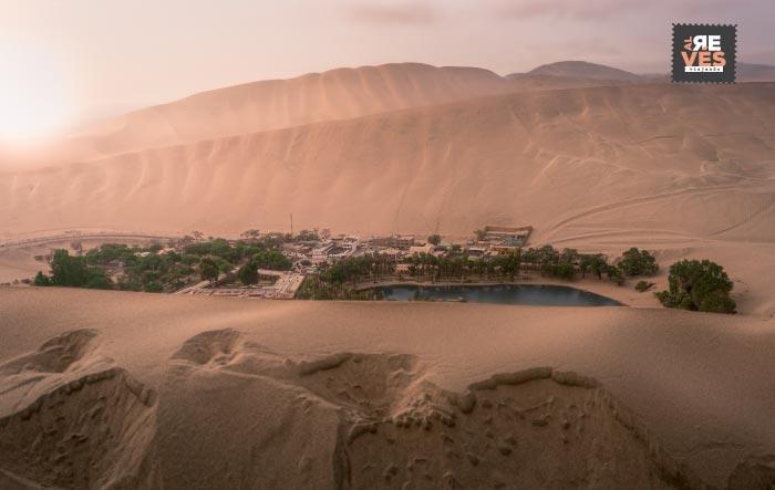 panoramica del oasis de huacachina