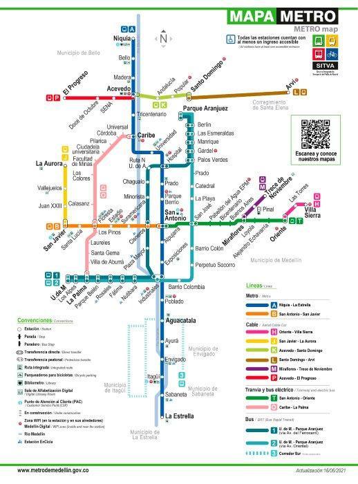 Mapa SITVA Medellín 2021